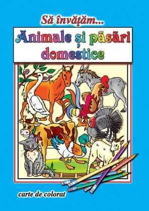 Animale si pasari domestice-Carte de colorat