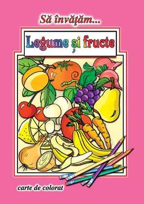 Sa invatam legume fructe-Carte de colorat