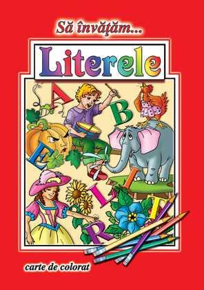 Sa invatam literele-Carte de colorat