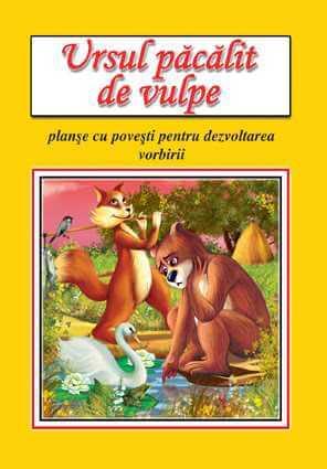 Ursul pacalit de vulpe Planse cu povesti